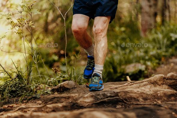 elderly man feet runner - Stock Photo - Images