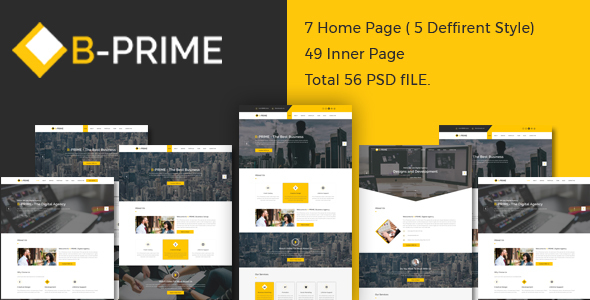 BPRIME- Multipurpose Business Template - Corporate PSD Templates