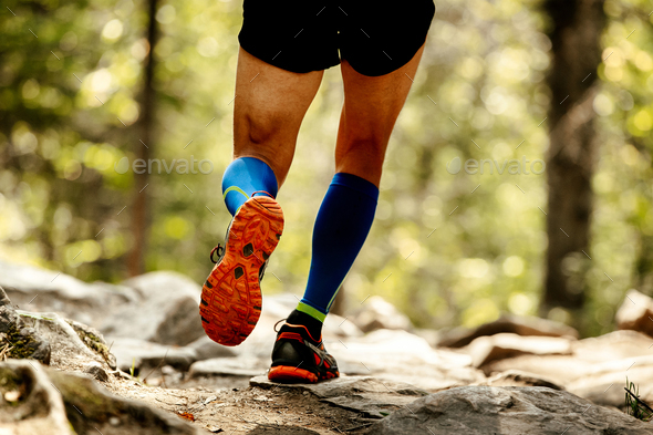 sole running shoes feet man - Stock Photo - Images