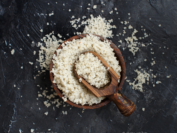 Celtic Grey Sea Salt from France - Stock Photo - Images