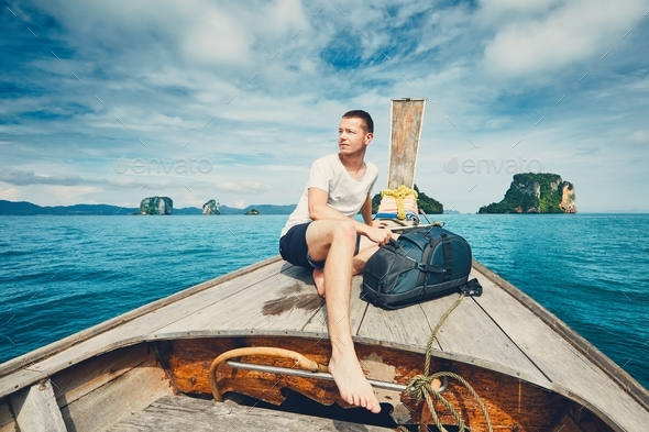 Travel on the long tail boat - Stock Photo - Images
