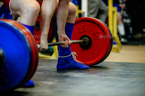 feet male athlete powerlifter - Stock Photo - Images