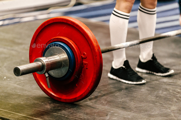 young athlete powerlifter - Stock Photo - Images
