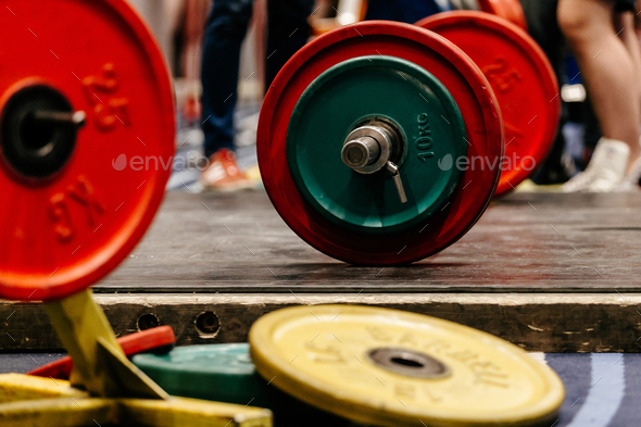 barbell with plates - Stock Photo - Images