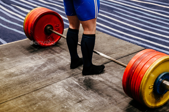 training attempt deadlift  - Stock Photo - Images