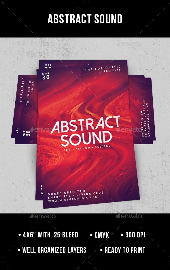 Abstract Sound - Flyer - Clubs & Parties Events
