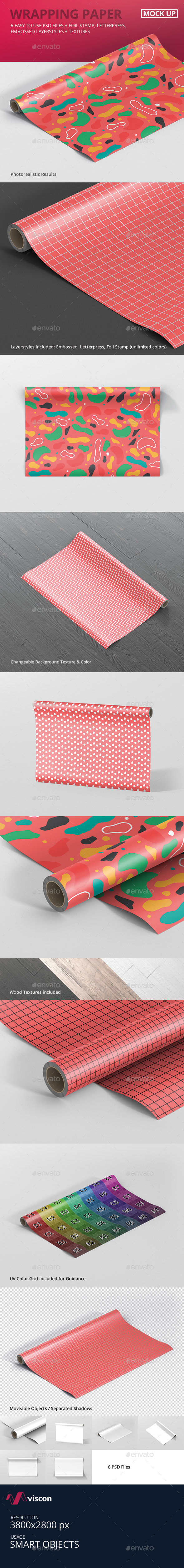Gift Wrapping Paper Mockup - Miscellaneous Print