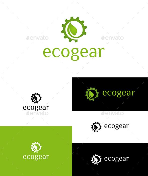 Eco Gear Logo - Nature Logo Templates