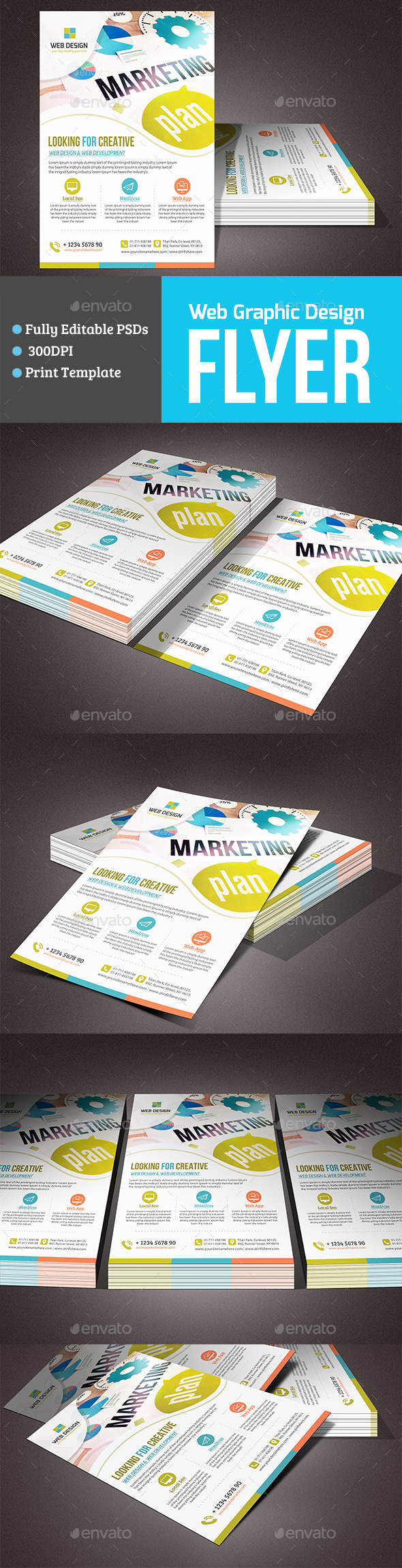 Web Graphic Design Flyer - Corporate Flyers