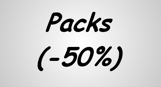 Packs (-50%)
