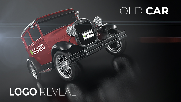 VideoHive Old Car Logo Reveal 21237454
