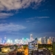 View of Makati Skyscrapers in Manila City. Skyline at Night, Philippines. - VideoHive Item for Sale