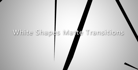 VideoHive White Shapes Matte Transitions 21237484