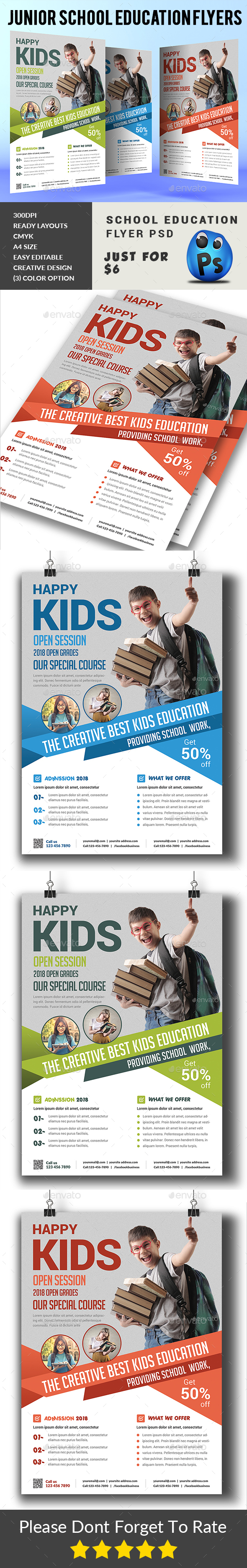 Junior School Education Flyers - Corporate Flyers