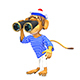 3D Illustration Monkey Sailor - GraphicRiver Item for Sale