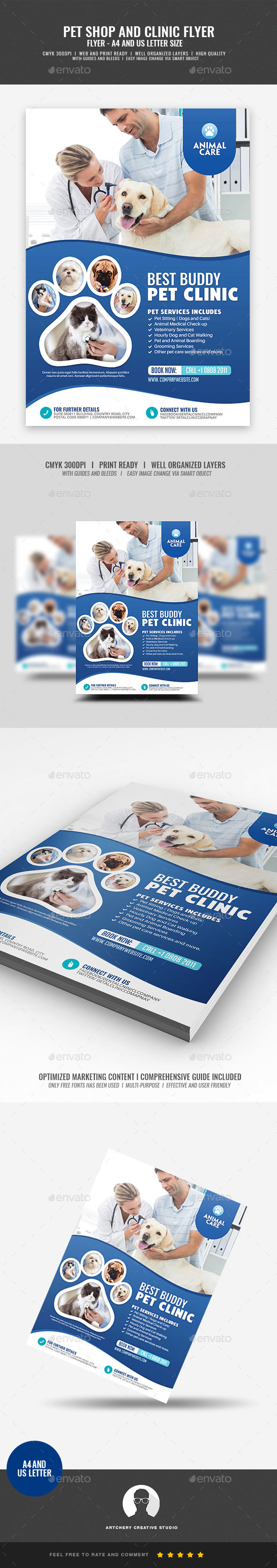 Pet Care and Clinic Flyer - Corporate Flyers
