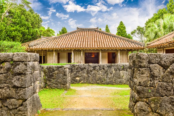 Okinawa, Japan Village - Stock Photo - Images