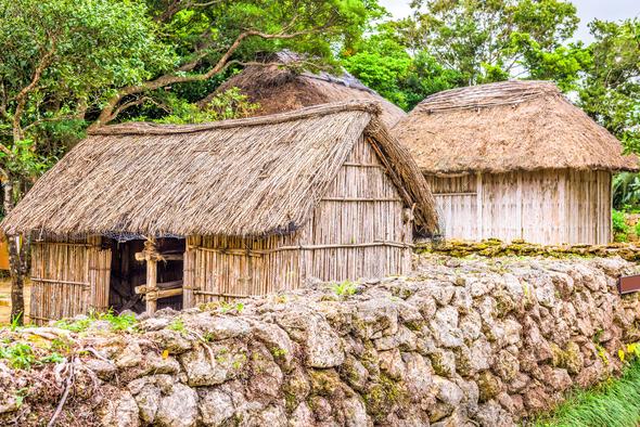 Historic Okinawan Village - Stock Photo - Images
