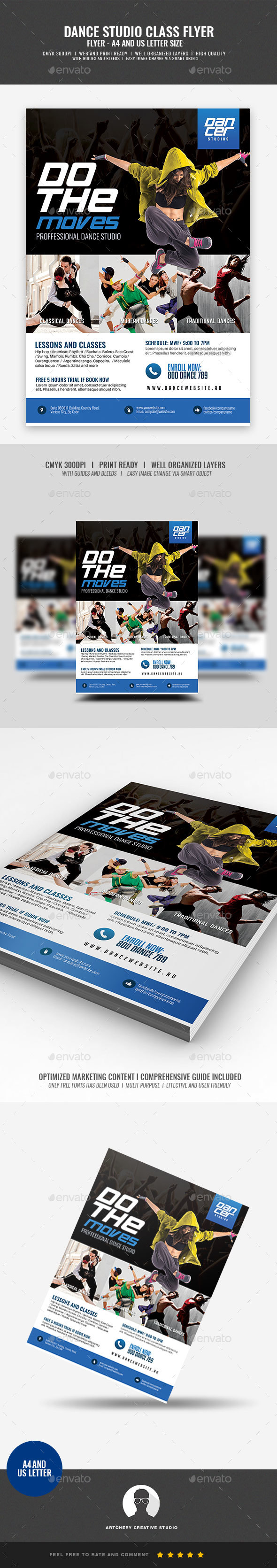 Dance Class and Tutorial Lessons Flyer - Corporate Flyers