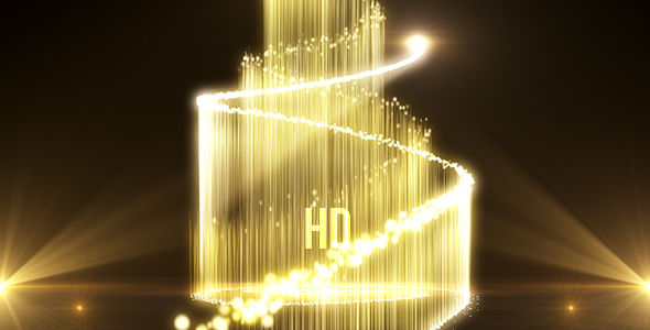 VideoHive Golden Particles Award 21237717