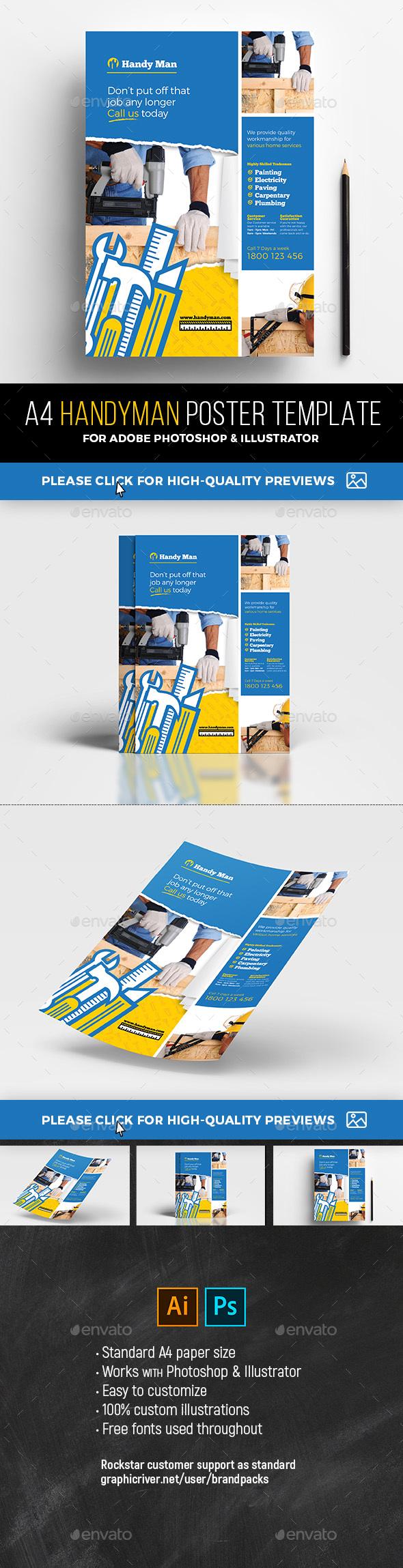 Handyman Poster Template v2 - Commerce Flyers
