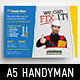 Handyman Flyer Template - GraphicRiver Item for Sale