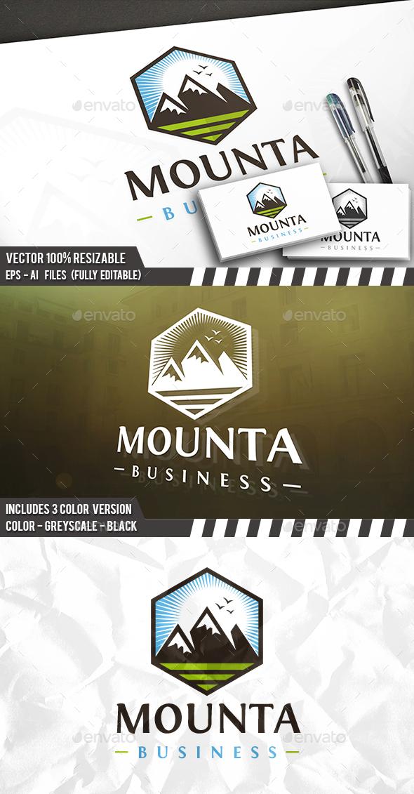 Mountain Sun Birds - Nature Logo Templates