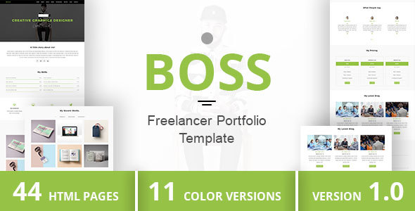 BOSS - Freelancer Portfolio Template