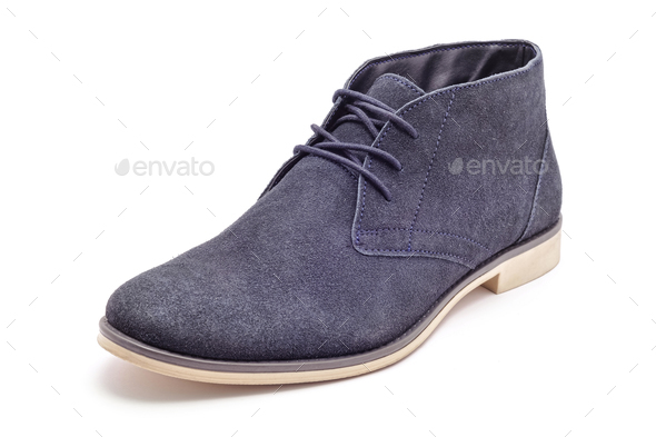 blue suede shoe - Stock Photo - Images