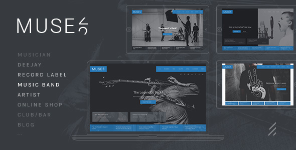 Image of Muse: A Modern Multi-Purpose Music WordPress Theme