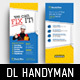 DL Handyman Rack Card Template - GraphicRiver Item for Sale