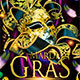 Mardi Gras Masquerade Carnival Party Flyer