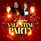 Happy Valentine Party Flyer Template