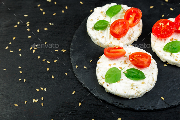 Healthy Rice Cakes. - Stock Photo - Images