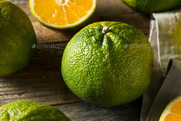 Raw Green Organic Ugli Fruit - Stock Photo - Images