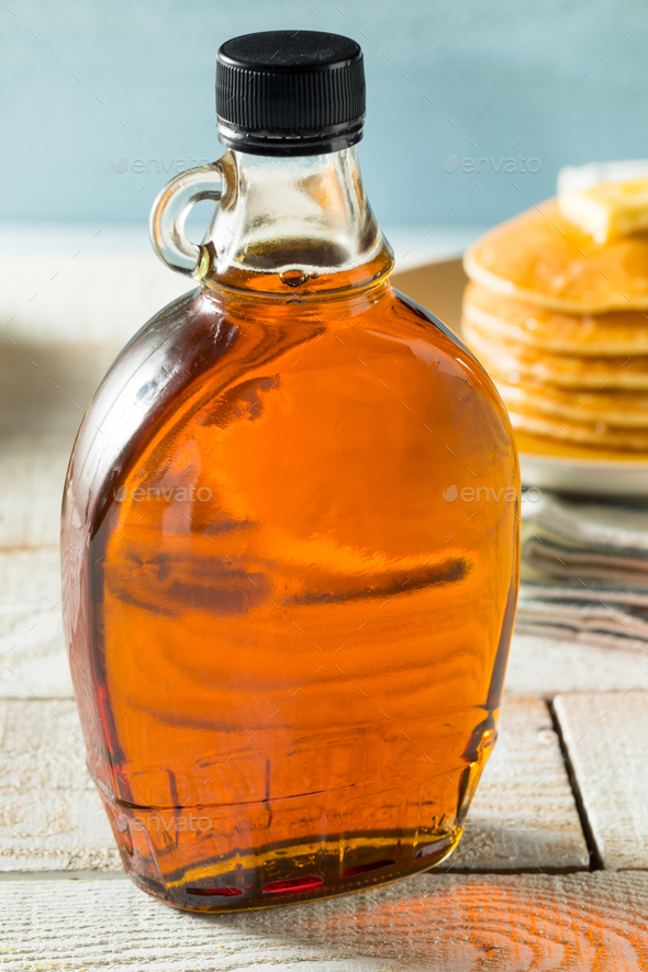 Raw Organic Amber Maple Syrup - Stock Photo - Images