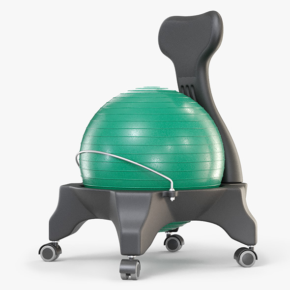 Gym Ball Office Chair - 3DOcean Item for Sale