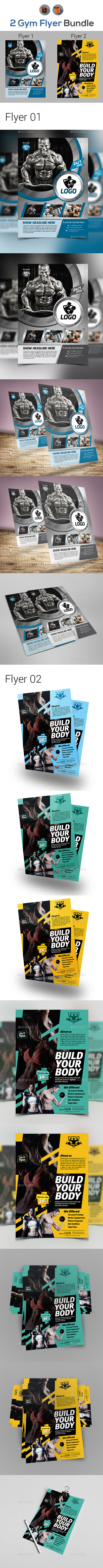 Fitness Flyers Bundle Template - Sports Events
