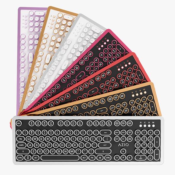Azio MK Retro Computer Keyboard - 3DOcean Item for Sale