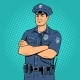 Policeman Pop Art Vector Illustration