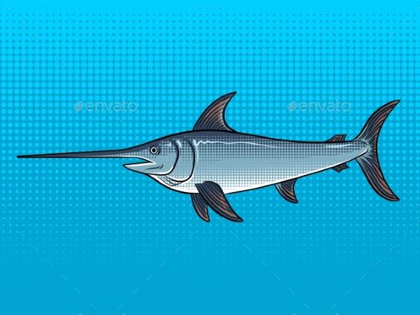 Swordfish Pop Art Vector Illustration - Miscellaneous Vectors