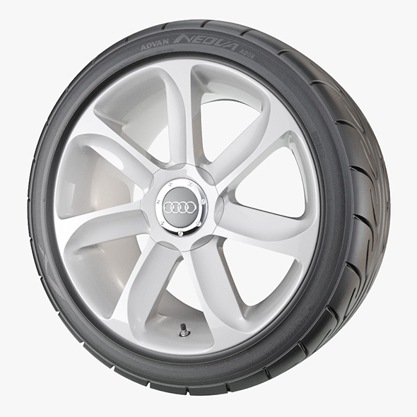 Performance Car Wheel - 3DOcean Item for Sale
