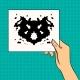 Rorschach Test Pop Art Vector Illustration