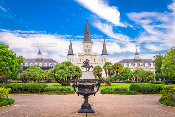 St. Louis Cathedral New Orleans - Stock Photo - Images