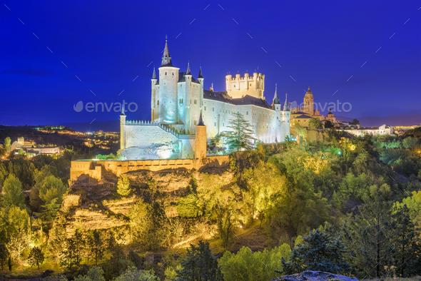 Segovia Spain Skyline - Stock Photo - Images