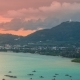 Sunset Landscape of Ao Chalong Bay and City Sea Side in Phuket Province, Thailand - VideoHive Item for Sale