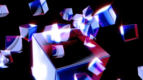 VideoHive Falling Glass Boxes 21238514