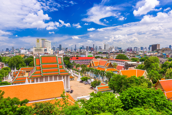 Bangkok, Thailand Cityscape - Stock Photo - Images