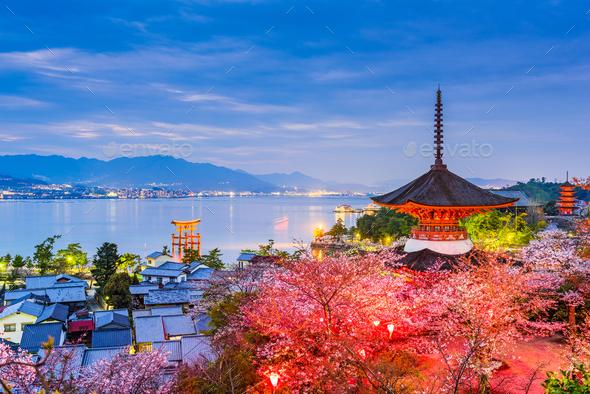 Miyajima, Hiroshima in Spring - Stock Photo - Images