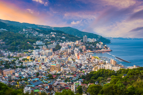 Atami, Japan Skyline - Stock Photo - Images